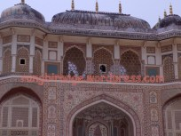 Ganesh Pol with frescoed walls and latticed windows